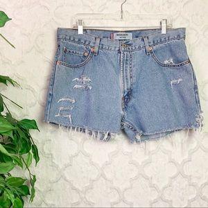 Vintage Levi's Distressed 505 Cutoff Shorts
